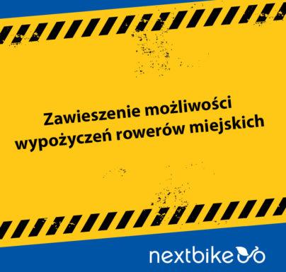 (Polski) Zakaz używania rowerów miejskich