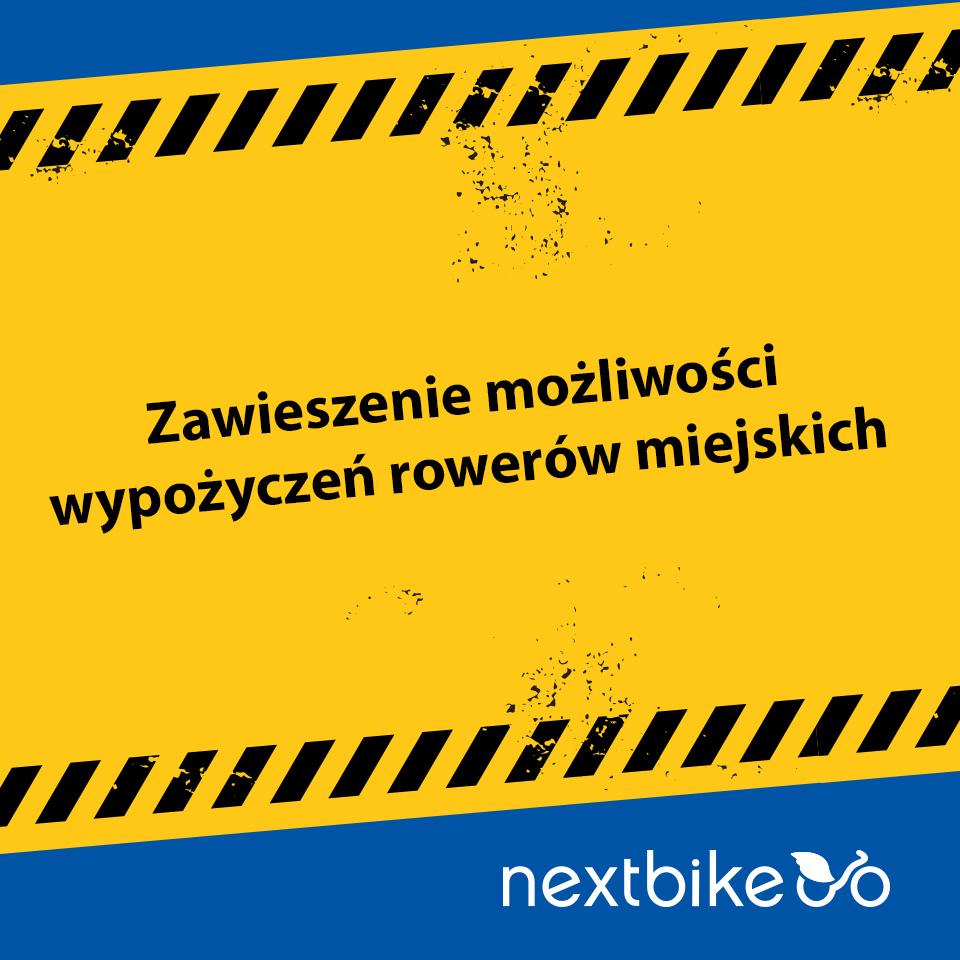 Zakaz używania rowerów miejskich